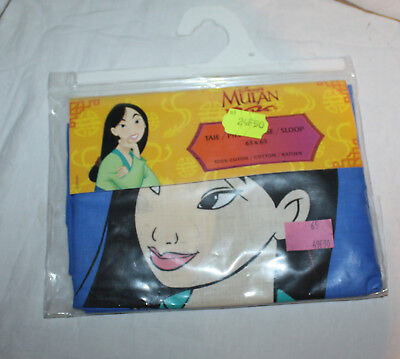 Vintage Disney Mulan & Mushu Pillowcase New in Pack NIP CTI France Square
