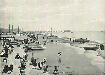 The Beach Great Yarmouth Norfolk 1900 Single Sided Antique Print Picture #221