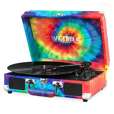 Record Player Vinyl Turntable Bluetooth with Speakers RCA Output Vinyl to Mp3