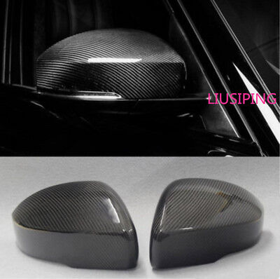 Carbon Fiber Outside Door Rearview Mirror Cover Trim For Range Rover Sport 14-18