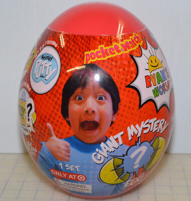 NEW! Ryan's World Giant Mystery Egg Surprise Slime Toy Review **Ultra Rare Red**