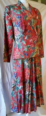 Vintage Monsoon Floral Suit Size 16