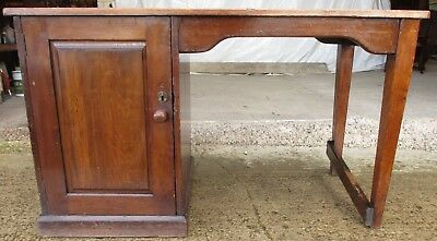 Edwardian mahogany clerks desk with shelved cupboard (ref 621)