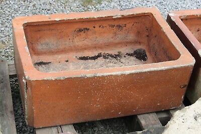 Old Trough Stone Planter Garden Clay Vintage 60 cm (B) - Yorkshire Dales Reclaim