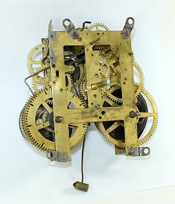 Sessions 8 Day Time & Strike Mantle Clock Movement - Parts Or Repair - Ru11