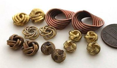 Vintage Brass Copper Knot Beads Findings Mix 14