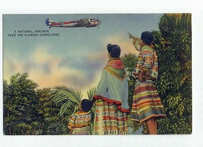 National Airlines Postcard L-10 Electra Florida Everglades from RARE collection