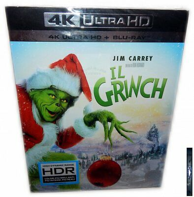 Dr. Seuss' How the Grinch Stole Christmas 4K + BLU-RAY + DC Carrey w/ Slipcover