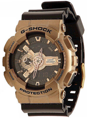 Casio GA110GD-9B2 G-Shock Black Ana-Digi Dial Black Resin Strap Men's Watch