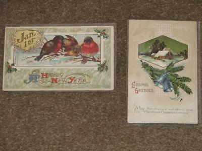 Christmas Greetings, Happy New Year-Greeting Cards, W/Scott#  Q1 Parcel Post