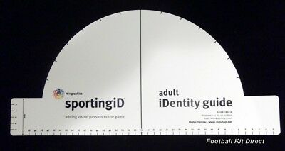 Sporting ID Lextra Senscilia Football Letters Template Curved/straight Ruler