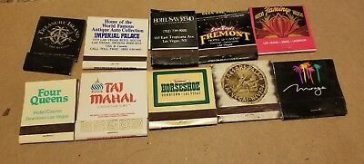 Vintage Matchbooks Assorted Lot of 10 From Las Vegas NV Casinos USED