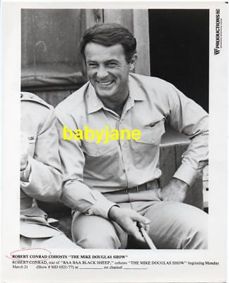 Robert Conrad Vintage 8X10 Photo Baa Baa Black Sheep Mike Douglas 1976 Promo