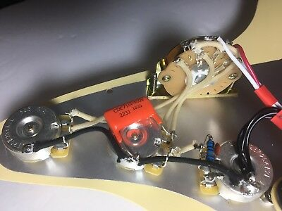 Pro Upgrade Prewired Kit with Treble Mod Wiring Harness Fits Fender Strat CTS