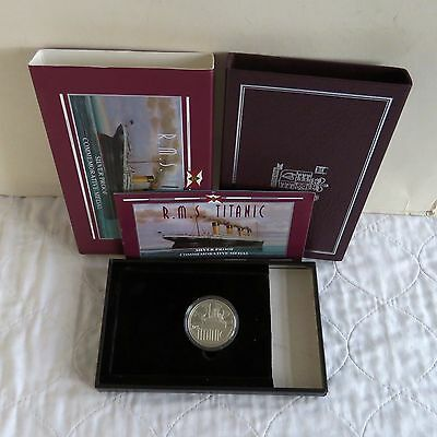 RMS TITANIC 1997 ROYAL MINT HARLAND AND WOLFF SILVER PROOF MEDAL - boxed/coa