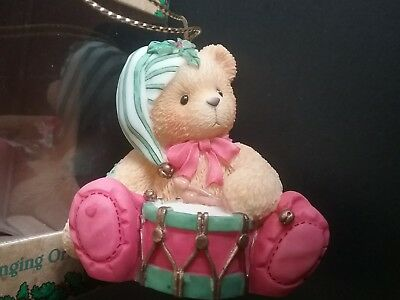 Cherished Teddies Collectible Ornament dated 1999 NIB retired Christmas Drum