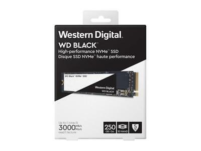 WD 250GB SSD Gen3 8 Gb/s M.2 2280 High-Performance NVMe PCIe WDS250G2X0C Black