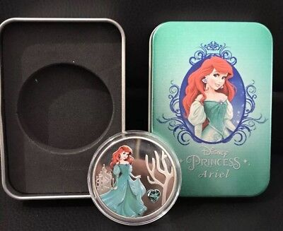 Disney Princess Ariel   Collectors Coin Silver Plated With Tin Gift