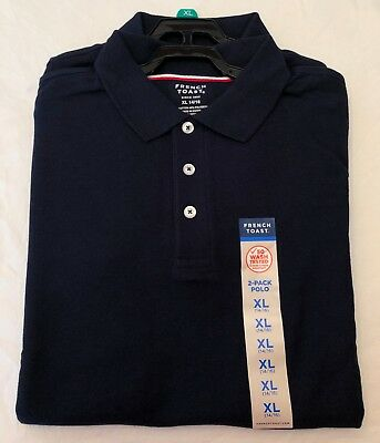 New Boys French Toast Schoolwear Navy Blue Polo Shirt. (XL 14/16) 2 PACK