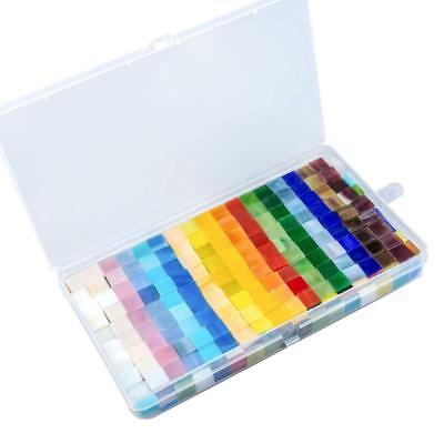 Resinta 280 G Mixed Color Mosaic Tiles Mosaic Glass Pieces With Organizing Conta