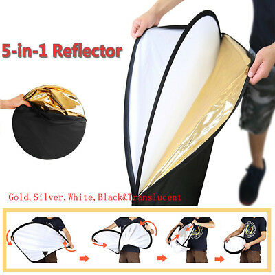 "24""/60cm 5-in-1 Photo Studio Multi-Disc Collapsible Light Reflector Ourdoor Prop"