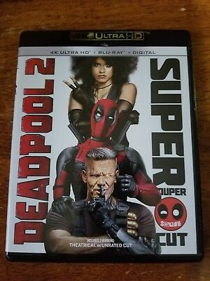 Deadpool 2 Super Duper Cut 4K Ultra HD plus Blu Ray(no digital)