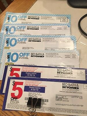Bed Bath And Beyond $50 Off.  Lot of 6 coupons (ONLINE OR IN-STORE)