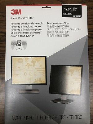 3M  Black Privacy Screen Filter 17.0 (PF170C4B) (Standard) (New!!!) (unopened)