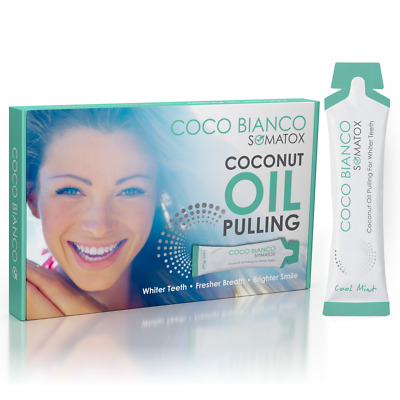 Somatox Coco Bianco - Aceite Enjuague Blanqueamiento Dental Kit - Cocowhite Gel