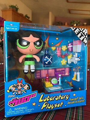 Powerpuff Girls BUTTERCUP LABORATORY PLAYSET - New, MIP, Sealed, NRFB, HTF