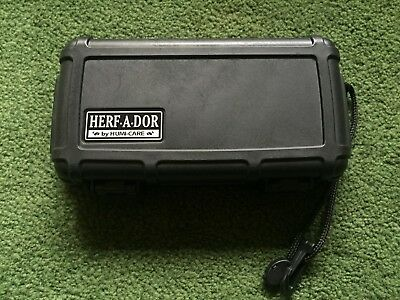Humi-Care Herf-A-Dor Hard Shell Black Humidor Cigar Caddy Travel Case