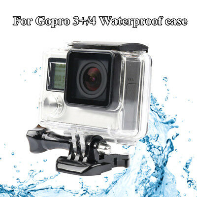 45M Underwater Waterproof Diving Housing Case For Go Pro Hero4 5 Session CamerJR