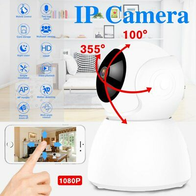 1080P Wireless Wifi Baby Pet Monitor Panoramic Night Vision Alarm IP CCTV Camera