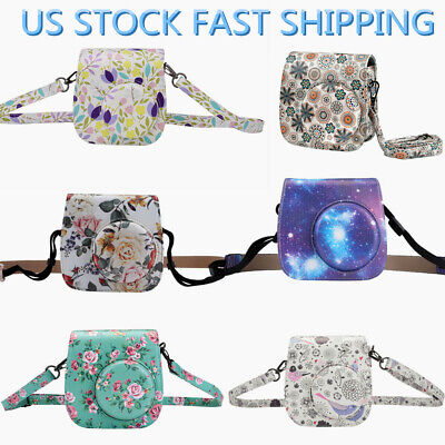 Leather Printed Camera Case Bags Cover Protector For Fuji Film Instax Mini 8/9
