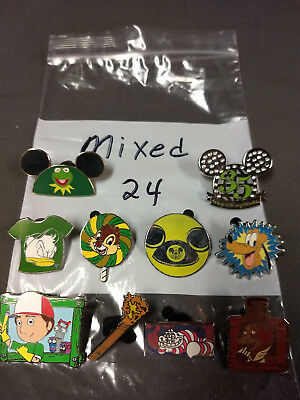 Disney Lot Of 10 Pins Mixed Characters Lot #24