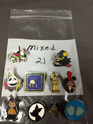 Disney Lot Of 10 Pins Mixed Characters Lot #21
