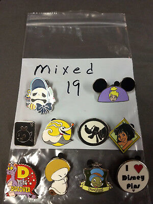 Disney Lot Of 10 Pins Mixed Characters Lot #19