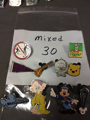 Disney Lot Of 10 Pins Mixed Characters Lot #30