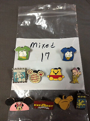 Disney Lot Of 10 Pins Mixed Characters Lot #17