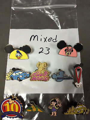 Disney Lot Of 10 Pins Mixed Characters Lot #23