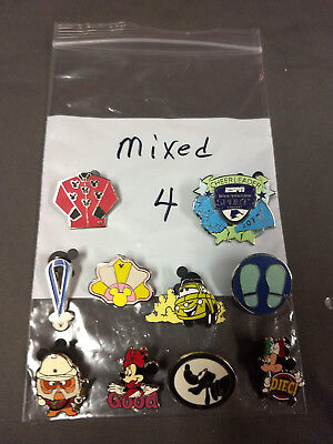 Disney Lot Of 10 Pins Mixed Characters Lot #4