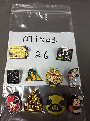 Disney Lot Of 10 Pins Mixed Characters Lot #26