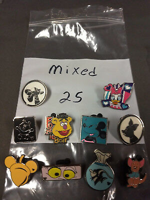 Disney Lot Of 10 Pins Mixed Characters Lot #25