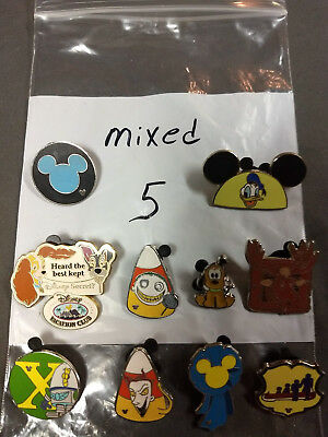 Disney Lot Of 10 Pins Mixed Characters Lot #5