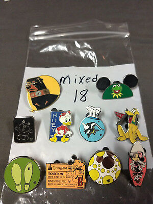 Disney Lot Of 10 Pins Mixed Characters Lot #18