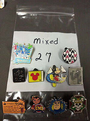 Disney Lot Of 10 Pins Mixed Characters Lot #27