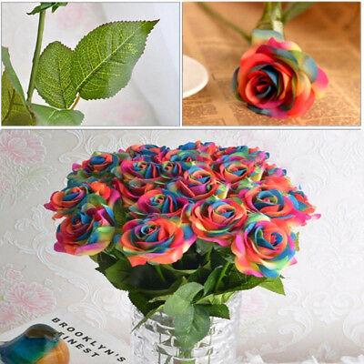 5/10pcs Small Rose Bud Heads Artificial Fake Flower Wedding Party Decoration Set