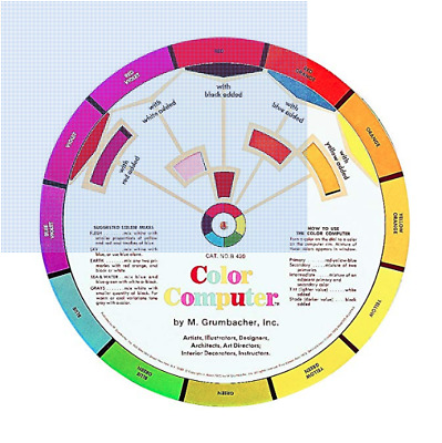 Grumbacher Color Computer '73 2nd Edition Complimentary Color Wheel for Artists!
