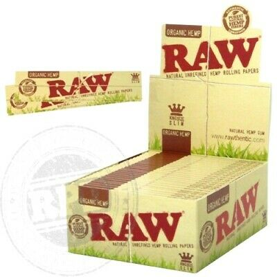 2 Packs Raw Organic King Size Slim Hemp Rolling Papers 110 mm USA SHIPPER