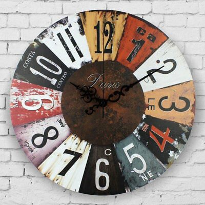 Large Decorative Antique Wall Clock